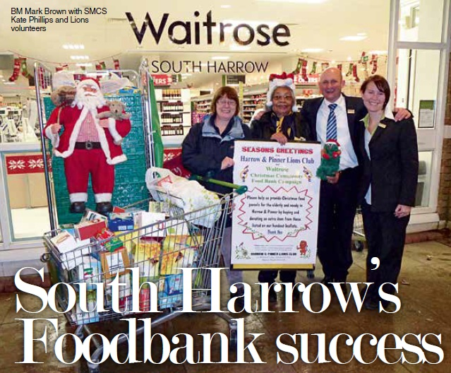 South Harrows Foodbank Success Waitrose Memory Store