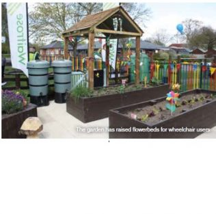 Distribution Partners help open sensory garden