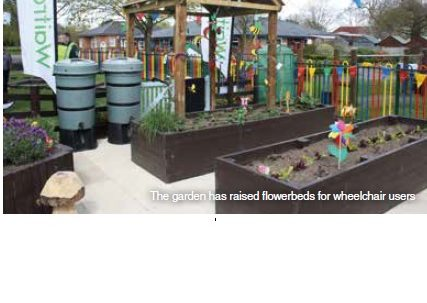 Distribution Partners help open sensory garden