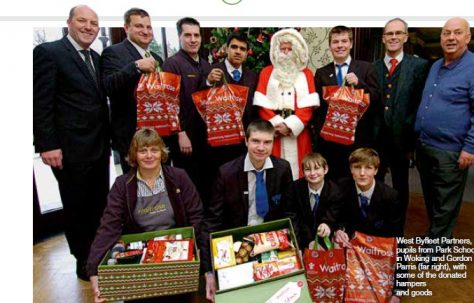 West Byfleet helps with hampers
