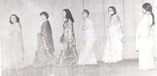 Under the watchful eye of Davey, the girls took their first strides in beautifully flowing sari's