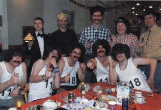 Fancy dress fun at Christmas dinner