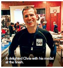 Chris runs 50 miles