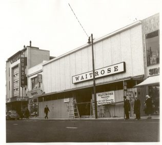 Waitrose Brighton under construction 1966 | John Lewis Partnership Archive collection