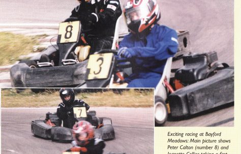 Close finish at Bayford Meadows Kart Event