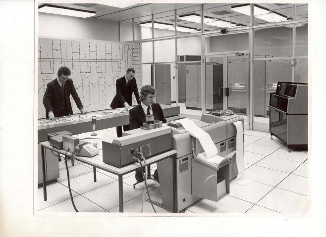 Computer control room Bracknell 1974   John Lewis Partnership archives