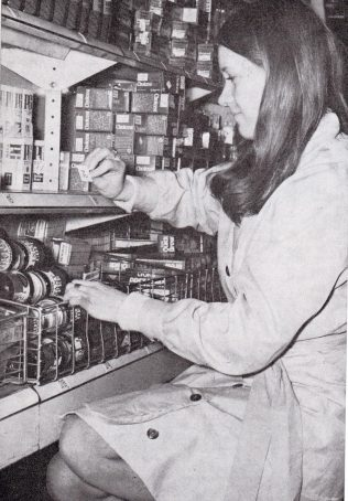 Miss Linda Blewitt changing over £ s d tickets at Temple Fortune 1971 | The Gazette