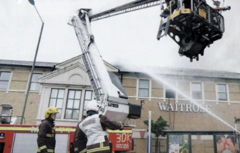 Finchley in flames