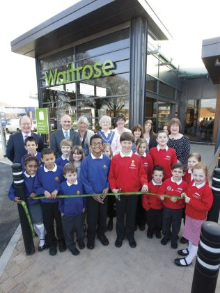 Schoolchildren lend a hand at the opening of Waitrose Warminster | Connections/ Waitrose Chronicle