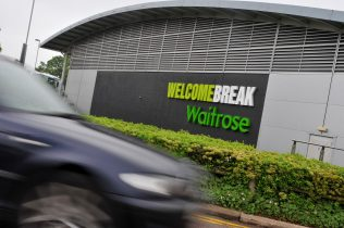 Waitrose at a welcome Break service station 2010 | John Lewis Partnership Archive collection