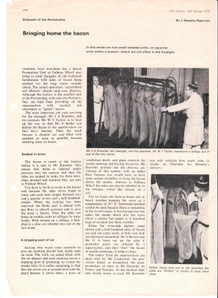 Bringing Home the Bacon | Acknowledgement to the John Lewis Partnership Archive