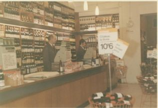 The Counter Service Wines shelving seen at Gloucester Road in the 1960's is typical of that referred to in the text. | Terry Hammond