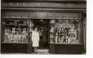 Henry Kingham and Sons Shop Front in 1940s | Acknowledgement to the John Lewis Partnership Archive