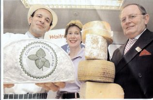 'Kids' Cookery School Chief, Executive Fiona Hamilton-fairly, (centre), Cheese specialist Jimmy Malloul and BM David Parkin