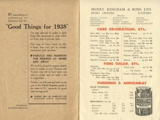 Kingham's Catalogue for Hampers 1938 | Acknowledgement to the John Lewis Partnership Archive