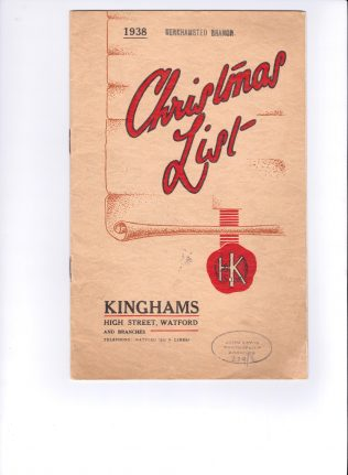 Kinghams catalogue 1938, pre-Partnership | John Lewis Partnership archives