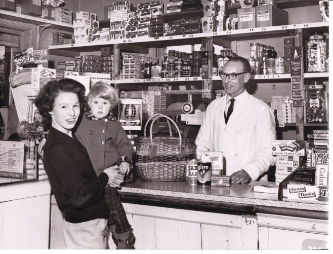 Leckford village shop 1965 - Mr Last behind the counter | C E Wardell