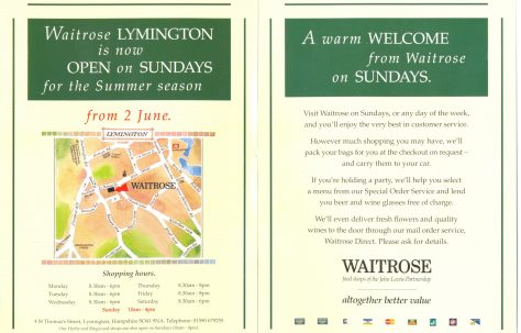 Doors open for Sunday trading