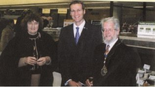 From left:  the Mayoress, Branch Manager Mike Snowden, the Mayor