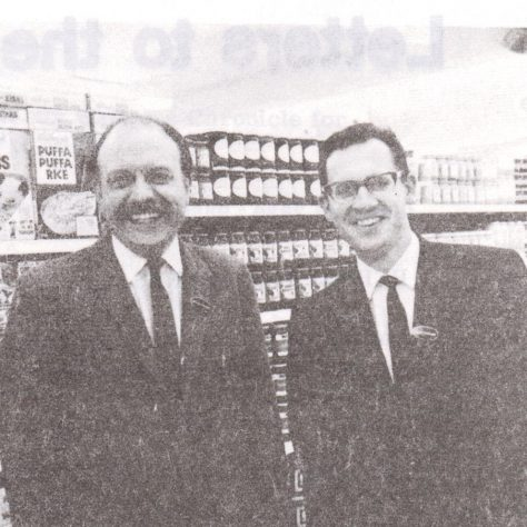 Mr Larter and Mr Tatham at Waitrose Romsey 1969 | Waitrose Chronicle