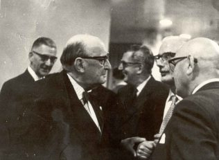 Mr Waite and Mr Tobias at Branch Council dinner 1963 | John Lewis Partnership archives