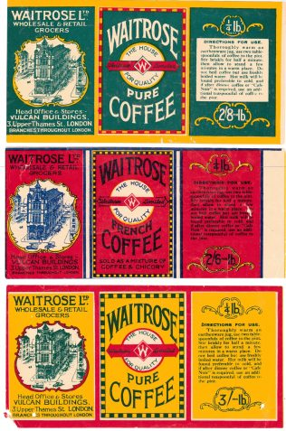waitrose own labels from 1930!s | ackknowledgement to john lewis partnership archive