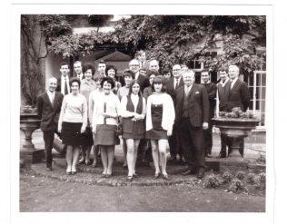 Partners at decimal training course, Odney 1971; 1st left Fred West BM 123, 1st right 'McGoldrick'Deputy 123, back row 1st right Trevor Brown, back row 3rd right Terry Freegard | Terry Hammond