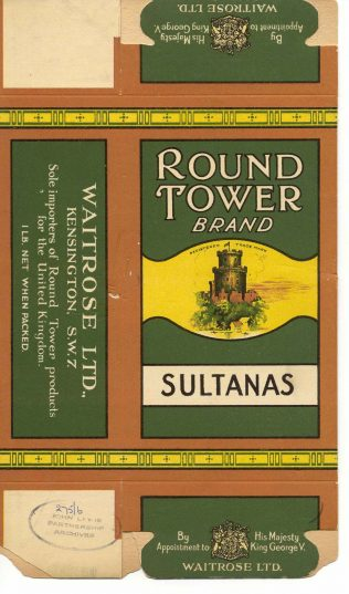 Round Tower packaging 1930s | John Lewis Partnership Archive collection
