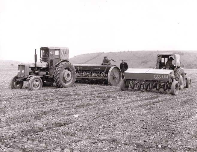 Sowing seed at Leckford 1966 | C E Wardell