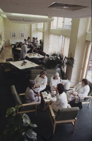 A moment to relax in the Partners' dining room   The Gazette