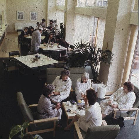 A moment to relax in the Partners' dining room | The Gazette
