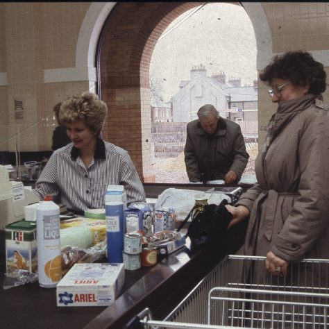 Checkout assistant Mrs Pam Smithers. | The Gazette