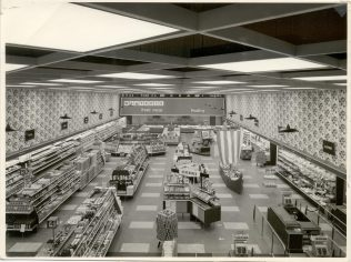 View from the manager's office, Slough 1960s   John Lewis Partnership Archive collection