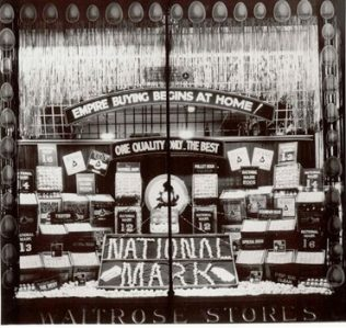 Award winning window display of eggs at Waitrose Gloucester Road 1928 | John Lewis Partnership Archive