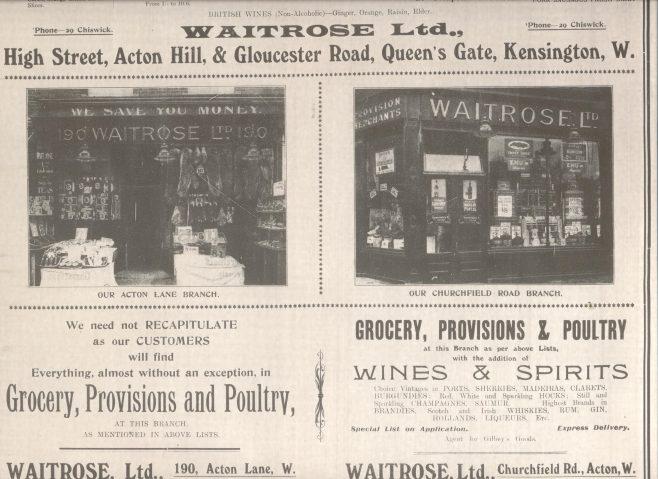 Waitrose Advertisement 1913 | Chiswick Gazette
