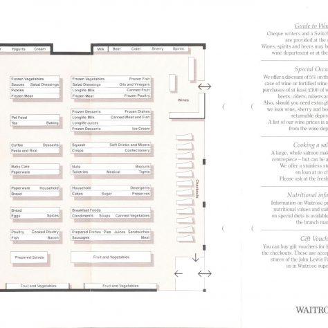 Andover leaflet - shopfloor plan 1990 | John Lewis Partnership archive collection