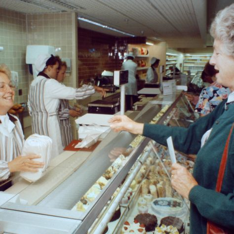 Andover patisserie 1990 - Partner Mrs Eileen Lockton | John Lewis Partnership archive collection