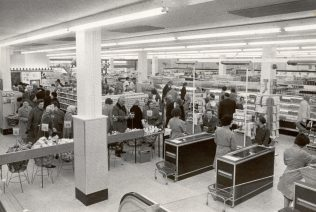 Checkouts, Brighton 1966 | John Lewis Partnership Archive collection A/2403n iv