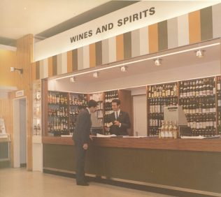 Wine department Brighton 1966 | John Lewis Partnership Archive collection A/2855/si