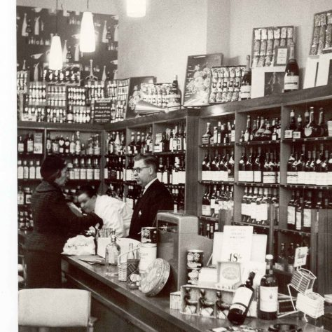 Gloucester Road wine dept 1960