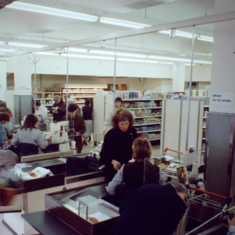 Godalming - checkouts at old branch 1994 | John Lewis Partnership archive collection