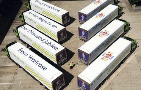 Waitrose Jubilee Lorries