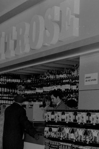 Kidderminster wines department 1969 | John Lewis Partnership archives
