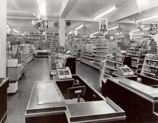 Interior Waitrose North Watford 1960s   John Lewis Partnership Archive