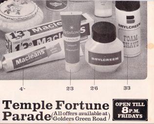 Temple Fortune advertisement 1965 | John Lewis Partnership archive collection