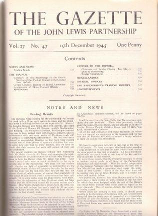 Waitrose Temple Fortune opening notice 1945 | The Gazette
