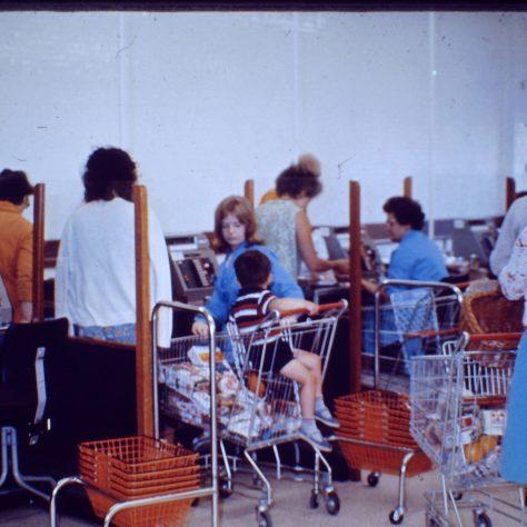 Waitrose Wokingham checkouts c1970   John Lewis Partnership archive collection