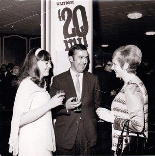 BM Waitrose Sheldon with two of his Partners 1969 | John Lewis Partnership archives