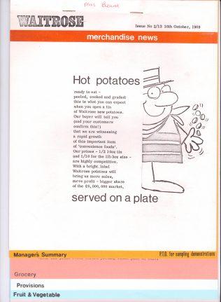 Waitrose Merchandise News   John Lewis Partnership archive collection