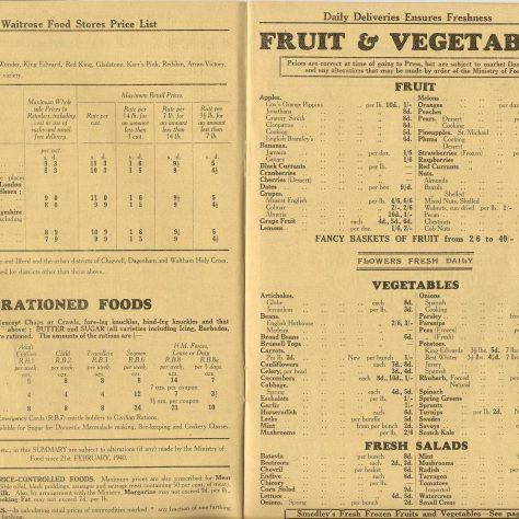 Waitrose rationed foods!